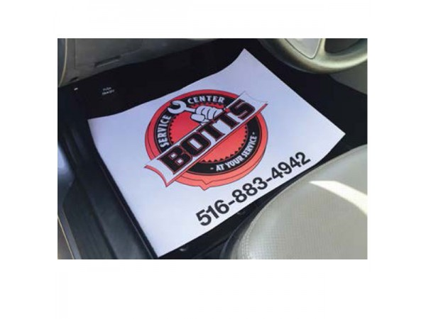 Auto Floor Protective Paper Mats - Full Color Imprint
