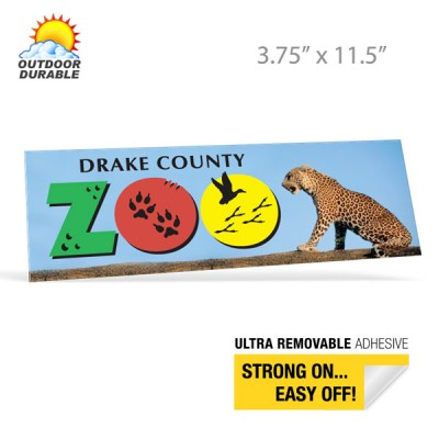 Bumper Stickers -  Digital Full Color Print, 3.75in x 11.5in