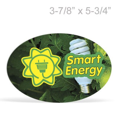 Oval Magnetic Bumper Sticker - Full Color Print,   3-7/8in x 5-3/4in