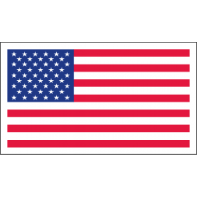Magnetic American Flag Decal -  3-1/2in x 2in