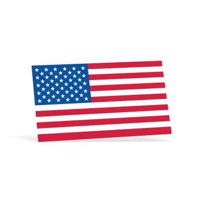 Rectangle American Flag Decals -   2-1/4in x 4in