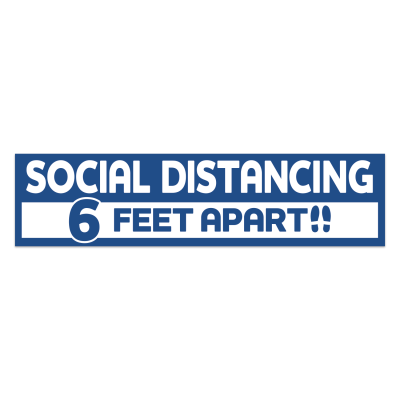 Social Distancing Rectangle Floor Decal 3.75 in. X 15 in.