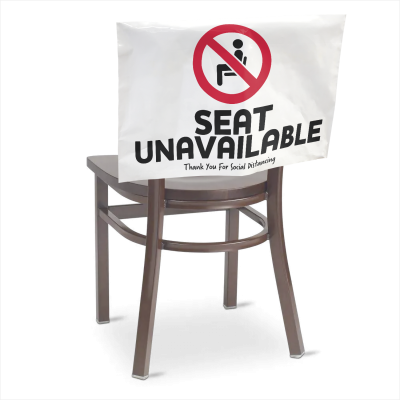Social Distancing Seat Back Cover - White Opaque Polyethylene  16 in. X 26 in.