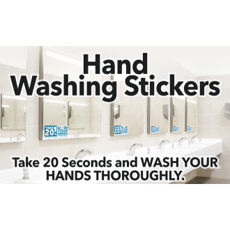Wash Your Hands Take 20 Decal 4 in. X 8 in.