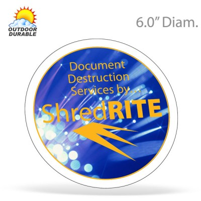 Circle Decals - 6.0in Diam. Digital Full Color Print