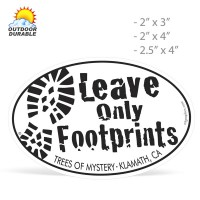 Oval Decals -  Digital Full Color Print, Size Group 2