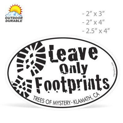 Stock Shape Oval Decals -  Digital Full Color Print, Size Group 2