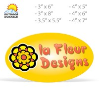 Oval Decals -  Digital Full Color Print, Size Group 4