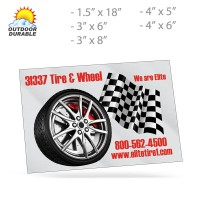 Rectangle Decals -  Digital Full Color Print, Size Group 4
